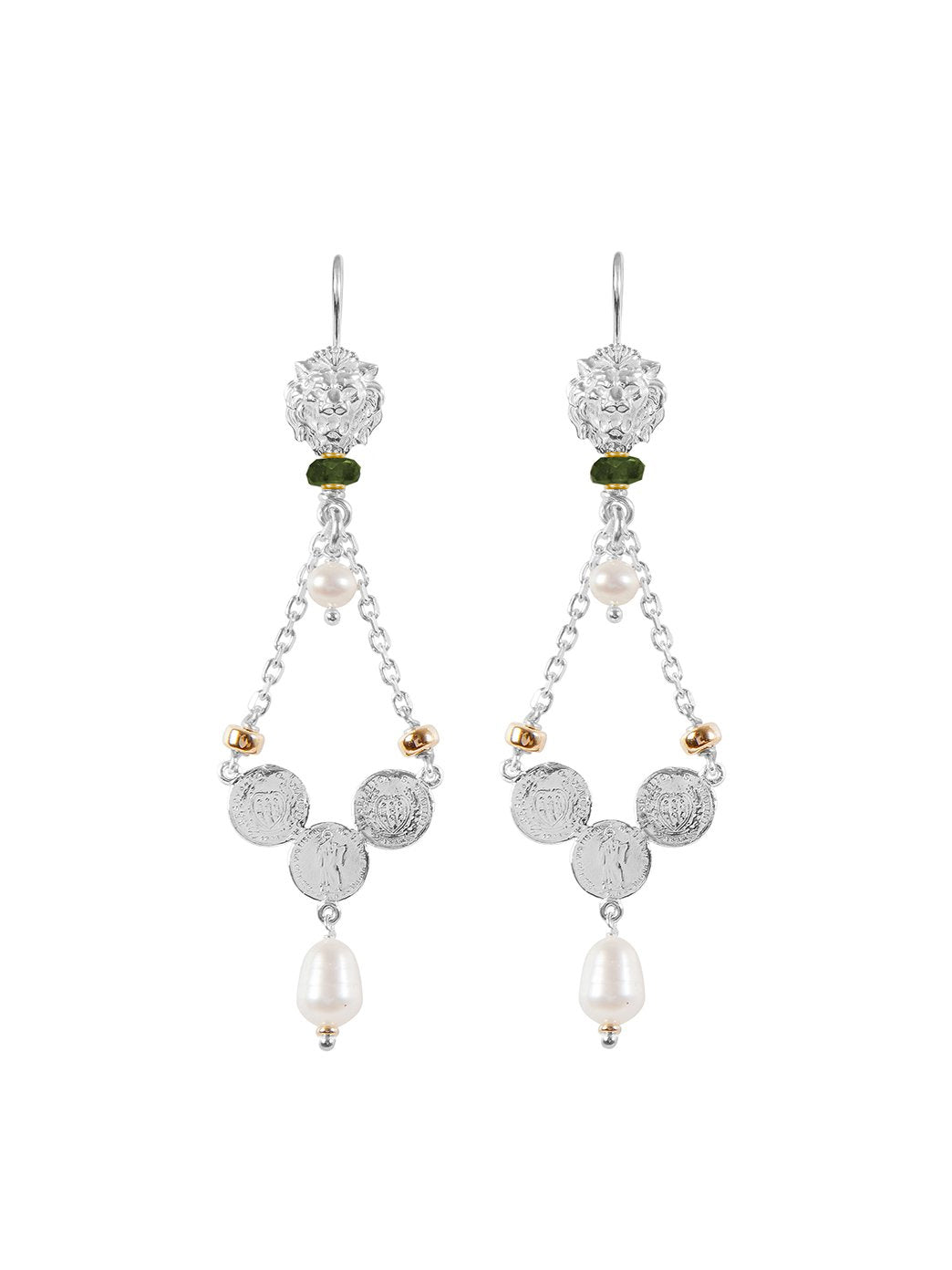 Fiorina Jewellery Trevi Earrings Green Tourmaline