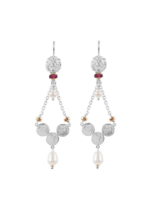 Fiorina Jewellery Trevi Earrings Pink Tourmaline