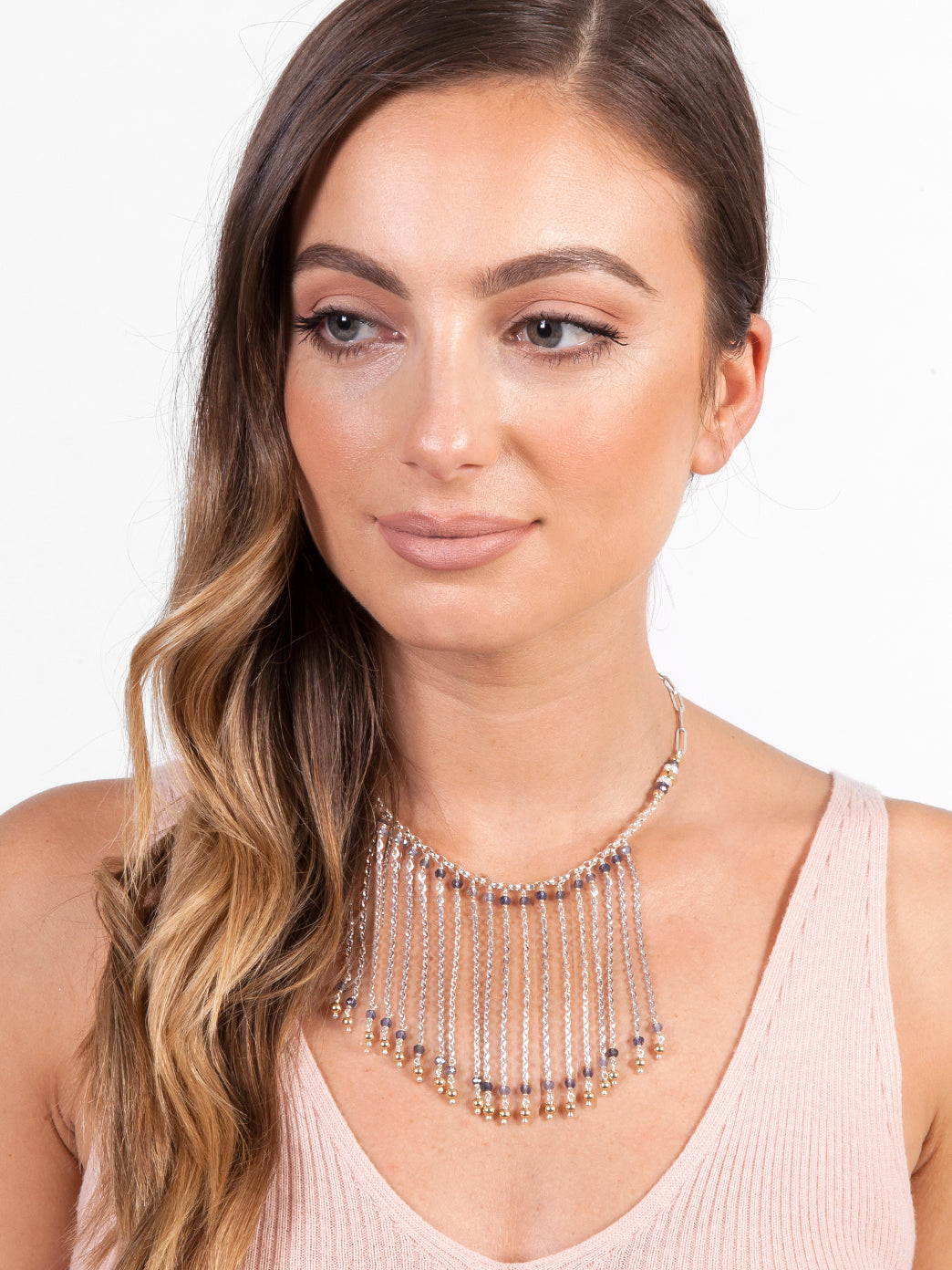 Fiorina Jewellery Fringe Choker Model