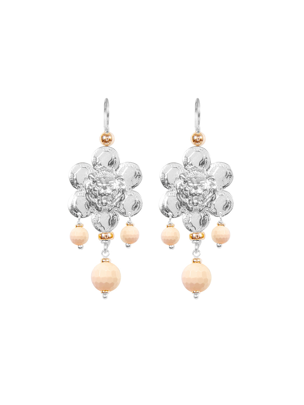 Fiorina Jewellery Giardini Earrings Pink Shell