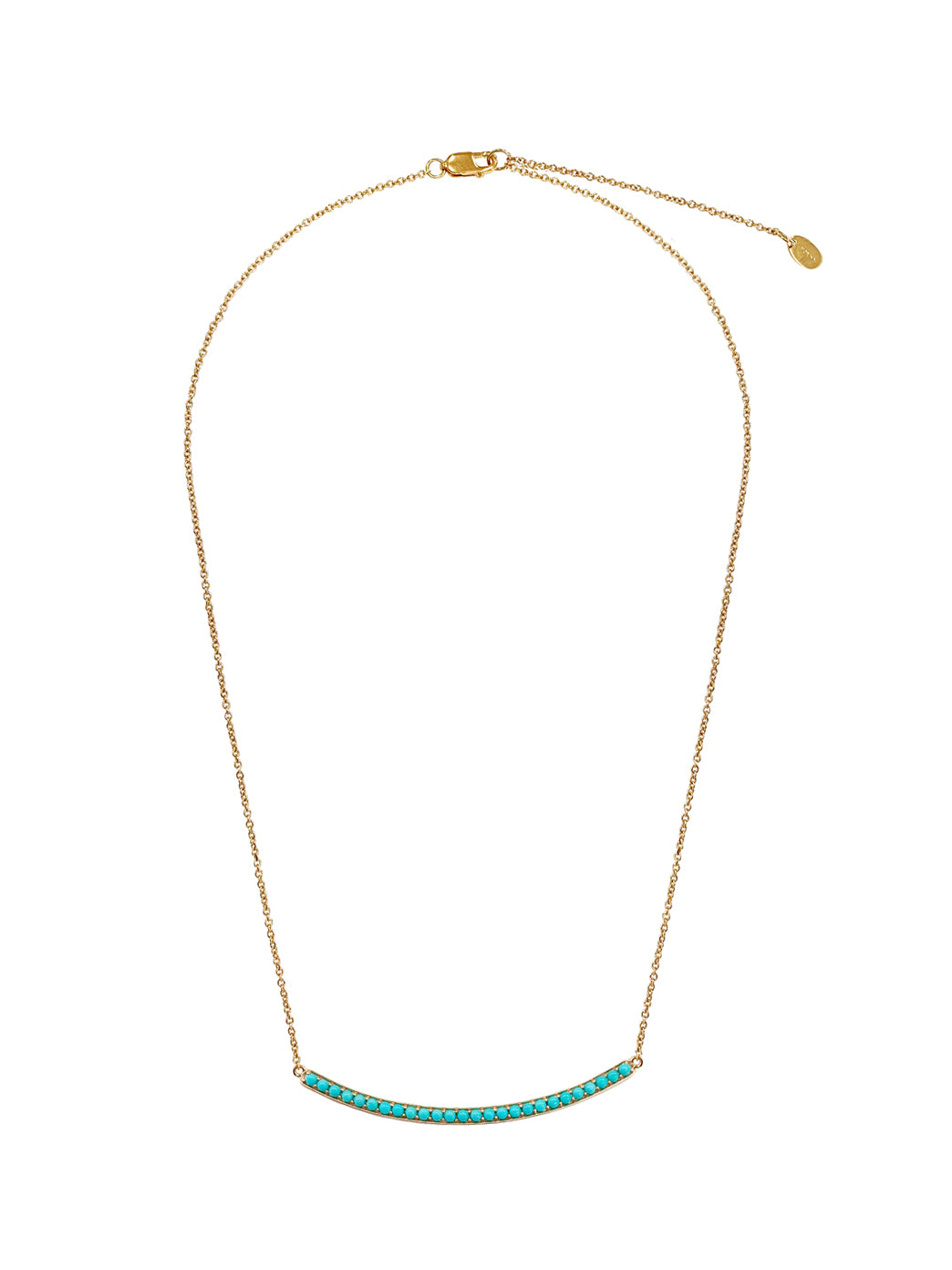 Fiorina Jewellery Gold Arc Necklace Turquoise