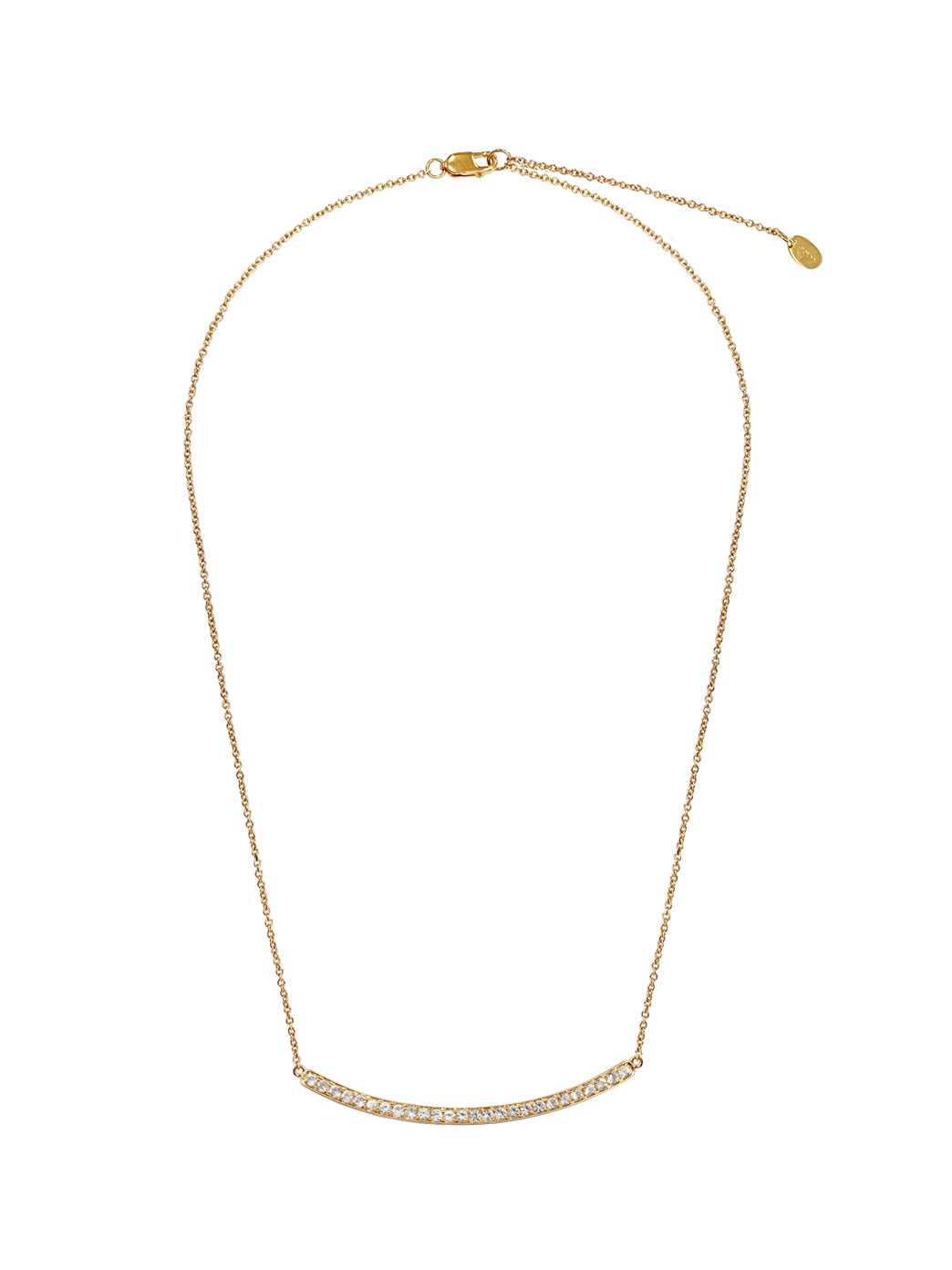 Fiorina Jewellery Gold Arc Necklace White Topaz