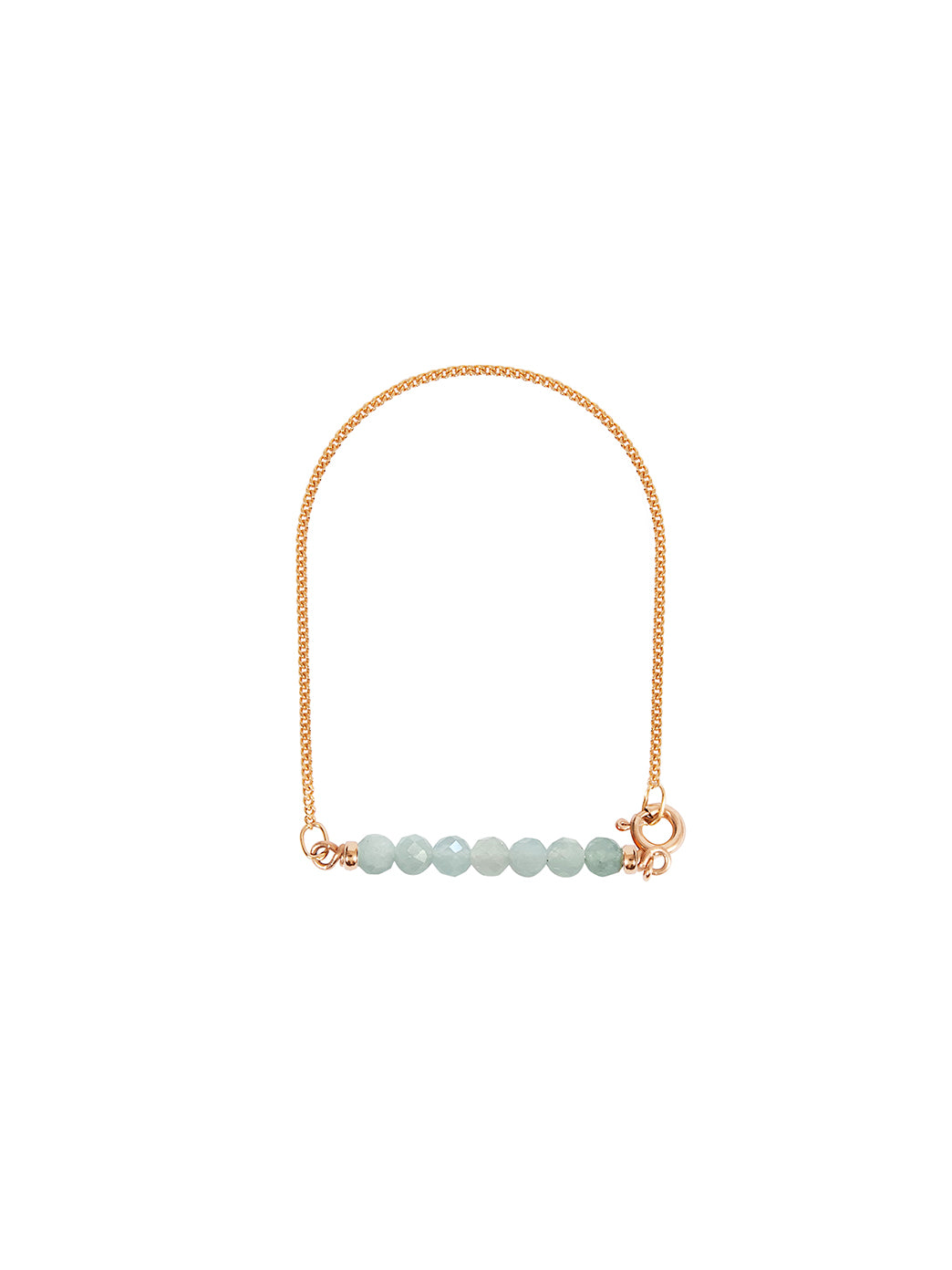 Fiorina Jewellery Gold Friendship Bracelet Aquamarine