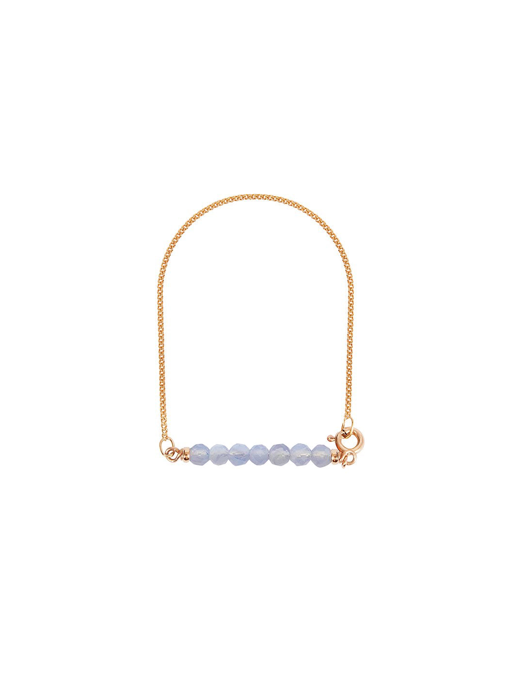 Fiorina Jewellery Gold Friendship Bracelet Chalcedony