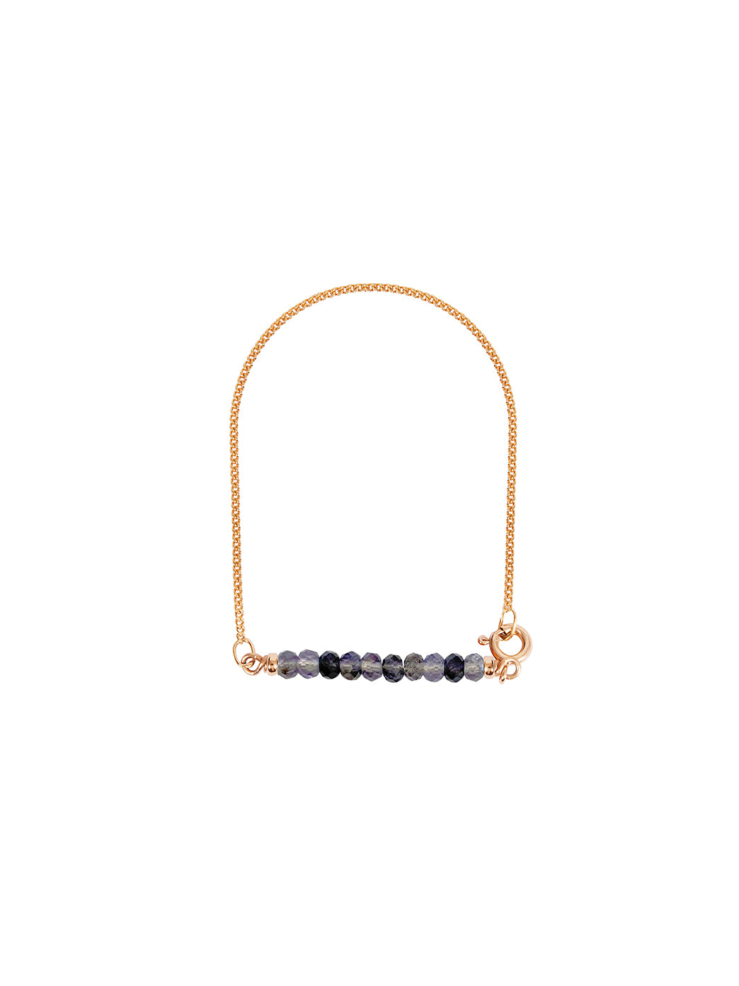 Fiorina Jewellery Gold Friendship Bracelet Iolite