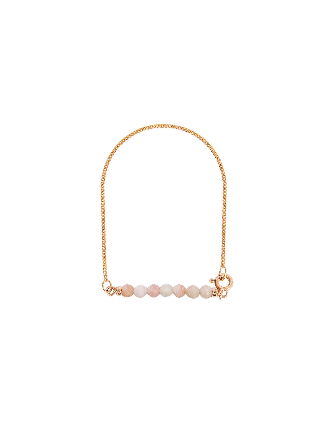 Fiorina Jewellery Gold Friendship Bracelet Pink Opal