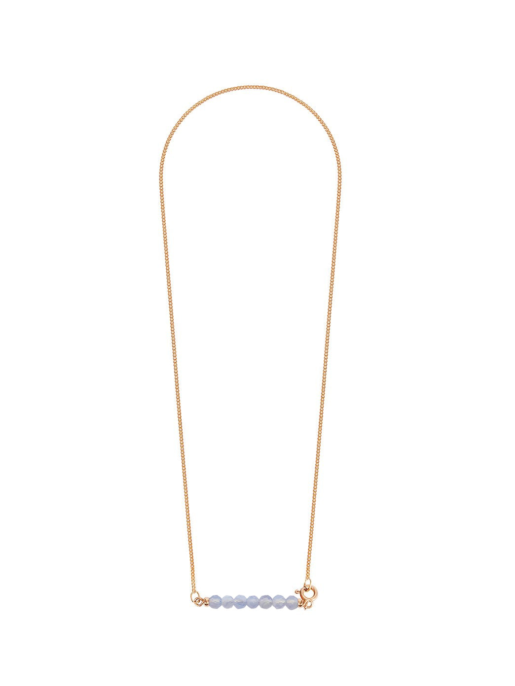 Fiorina Jewellery Gold Friendship Necklace Chalcedony