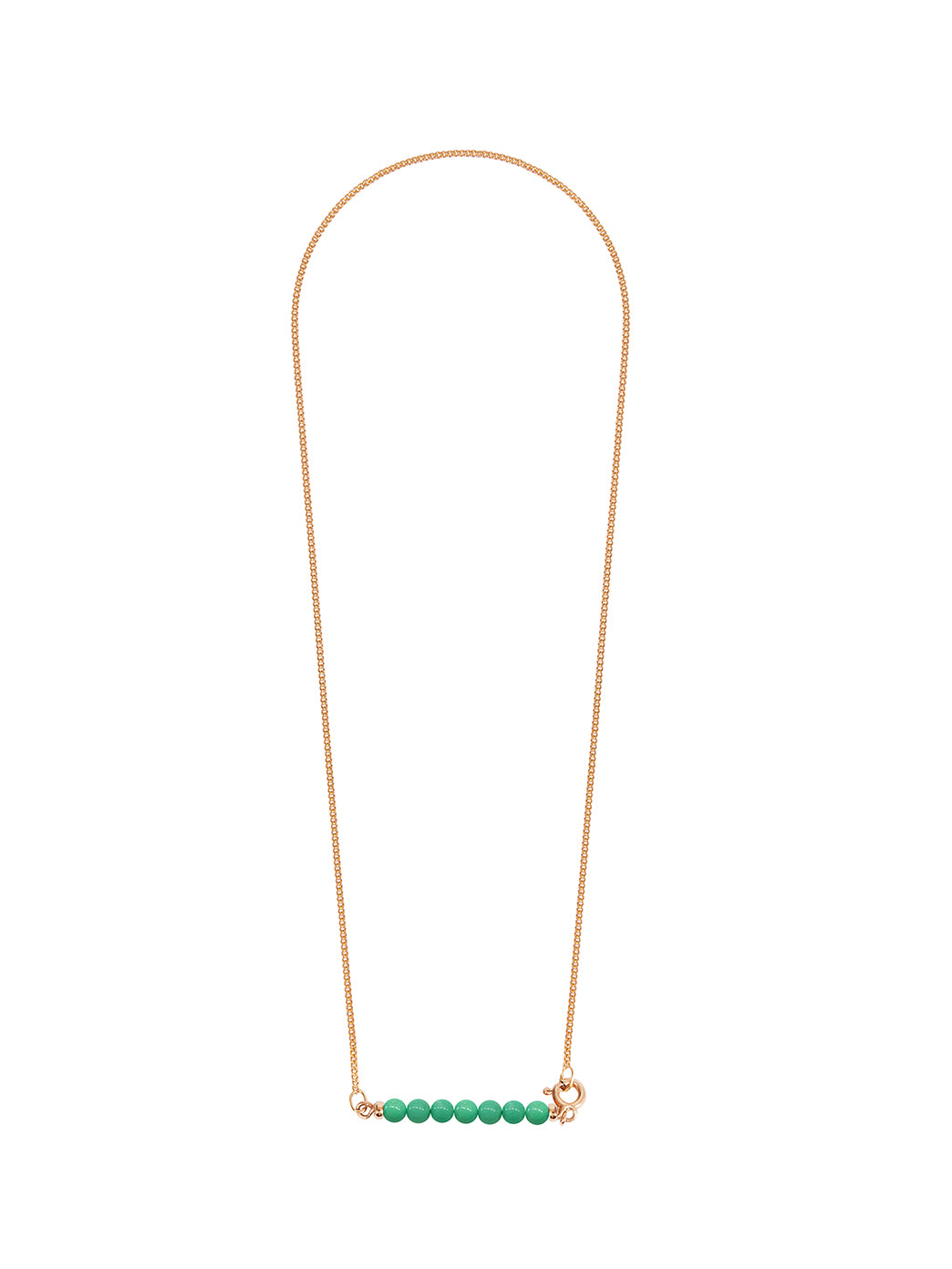 Fiorina Jewellery Gold Friendship Necklace Chrysoprase
