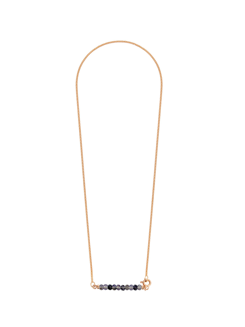 Fiorina Jewellery Gold Friendship Necklace Iolite