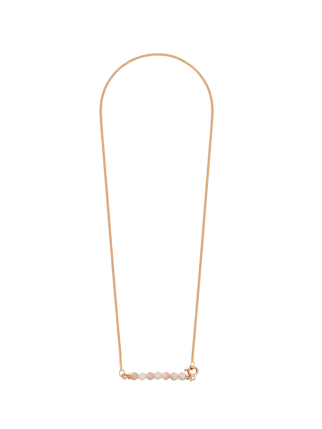 Fiorina Jewellery Gold Friendship Necklace Pink Opal