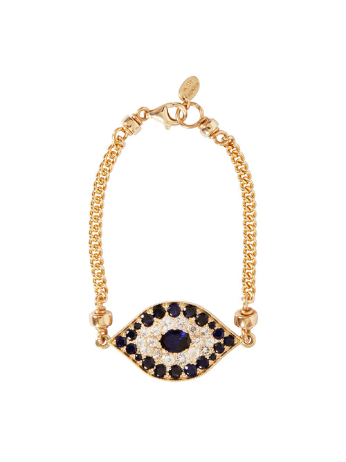 Fiorina Jewellery Gold Oracle Eye Bracelet Blue Sapphire