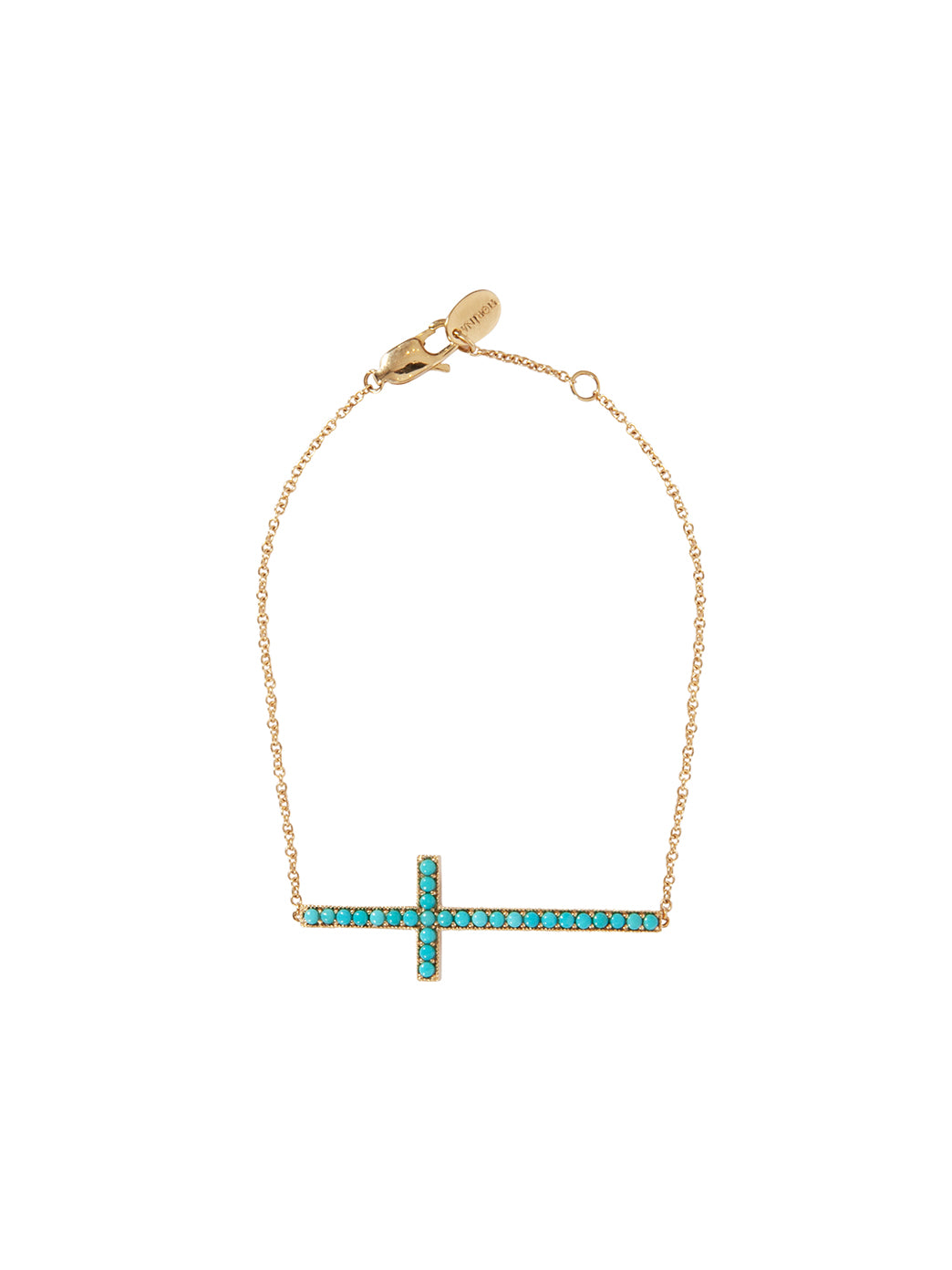 Fiorina Jewellery Gold Turquoise Cross Bracelet