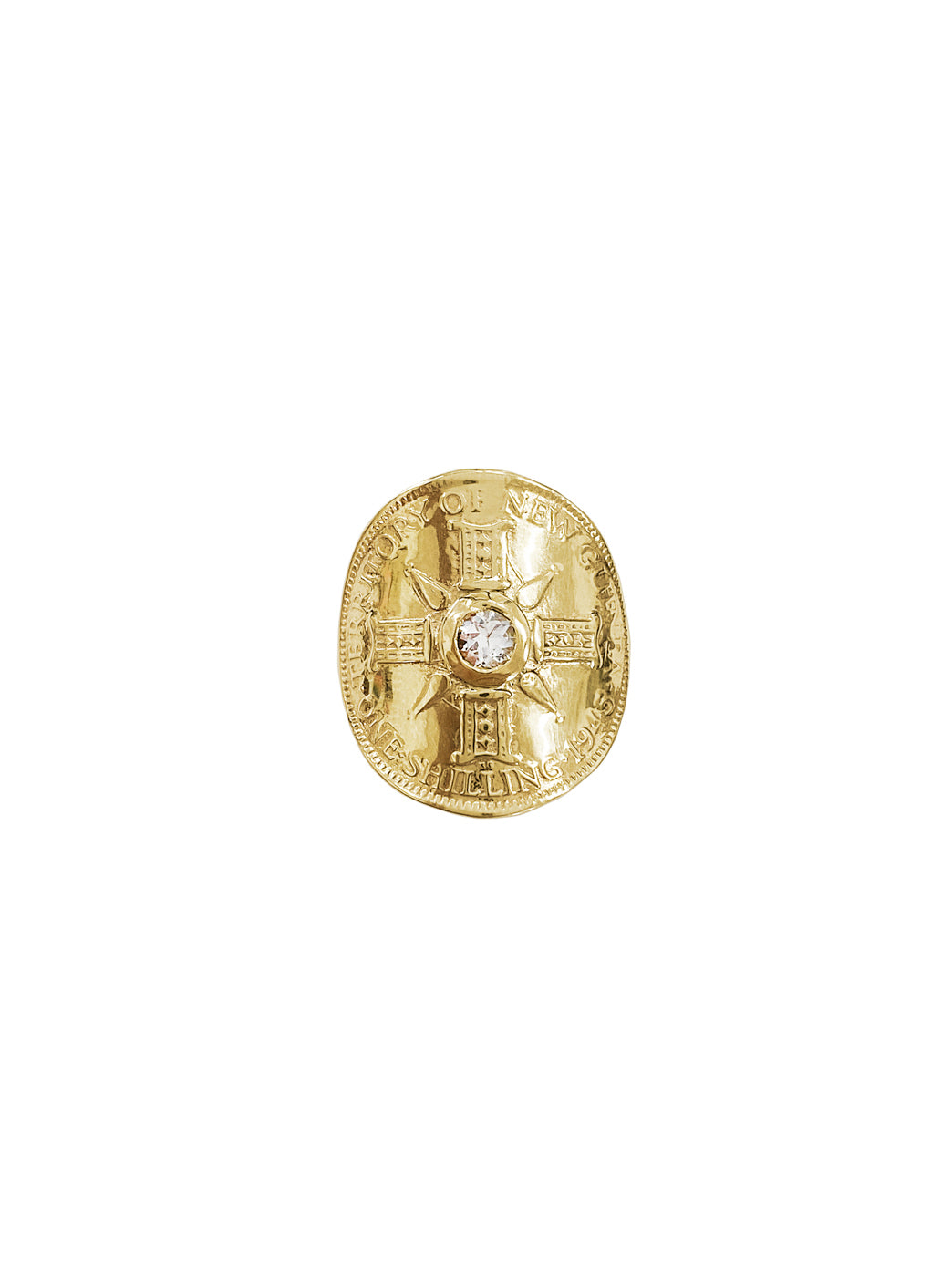 Fiorina Jewellery Gold PNG Bent Coin Ring