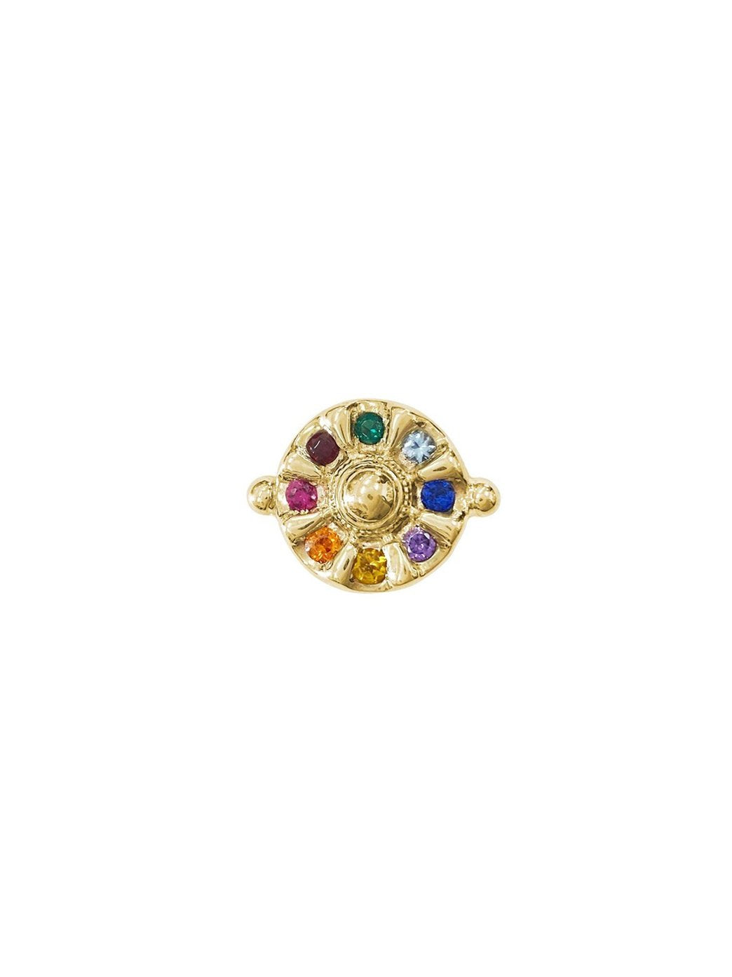 Fiorina Jewellery Gold Chakra Wheel Ring