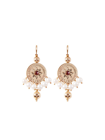 Gold Victoria Cross Earrings