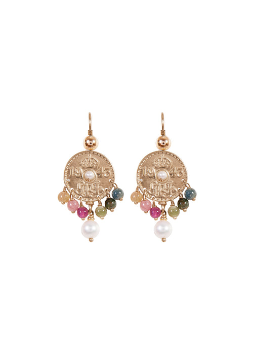 Fiorina Jewellery Gold Joy Tourmaline Earrings