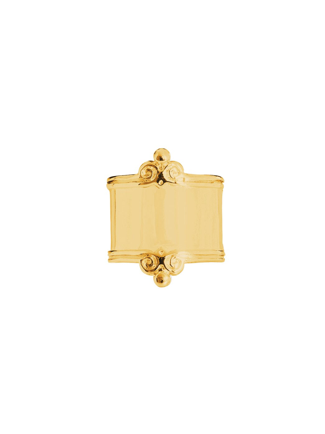 Fiorina Jewellery Gold Scroll Ring