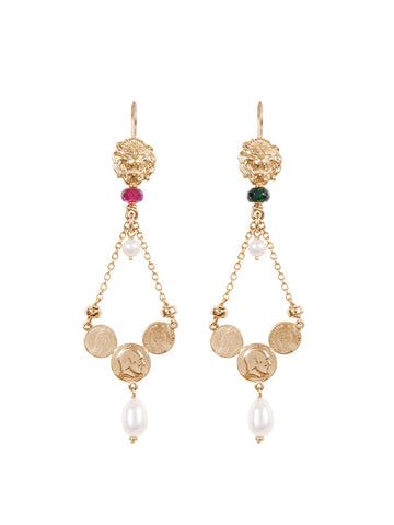 Gold Folklore Earrings