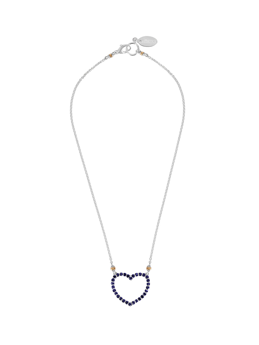 Fiorina Jewellery Heart Love Necklace Blue Sapphire