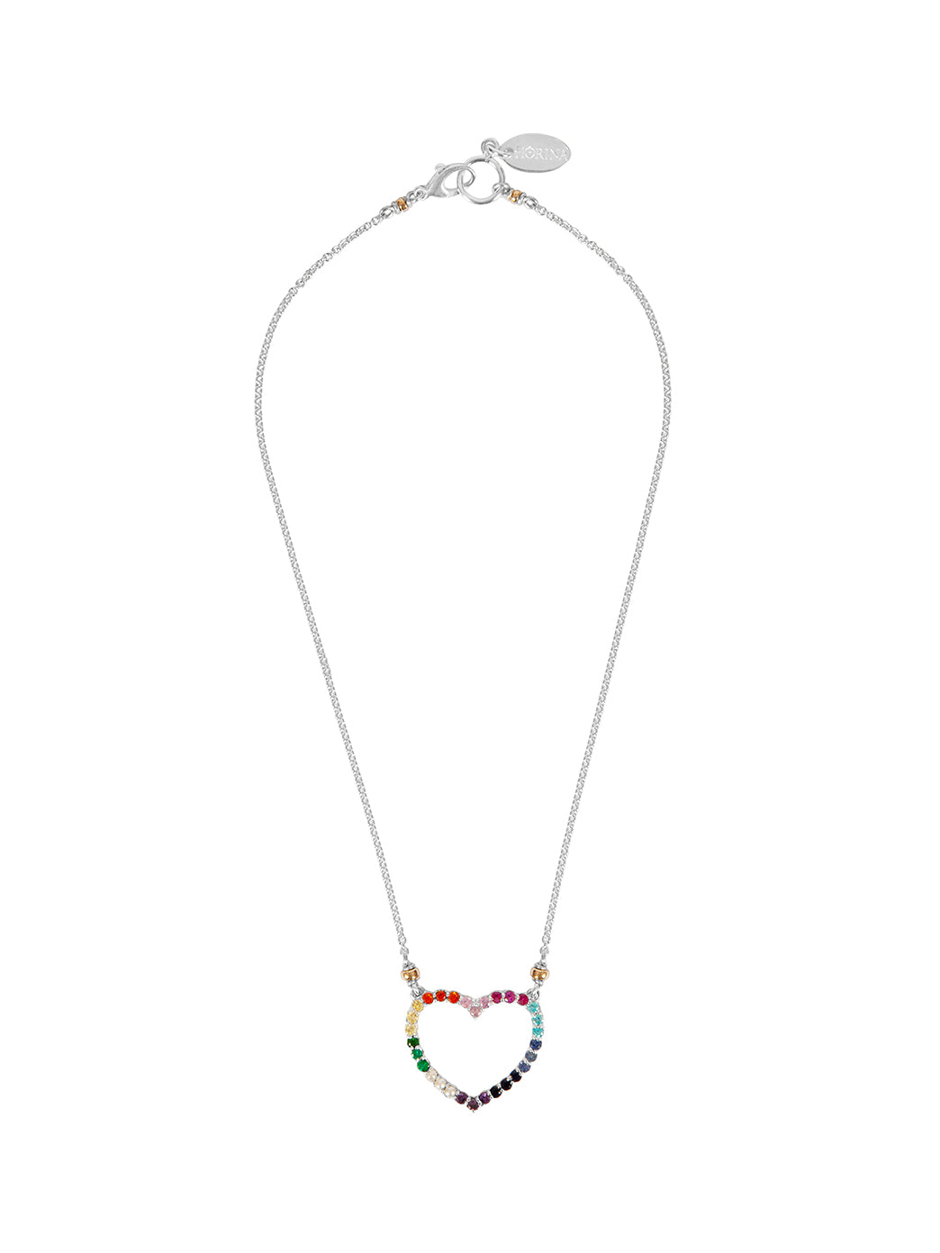 Fiorina Jewellery Heart Love Necklace Chakra
