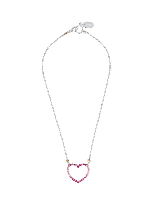 Fiorina Jewellery Heart Love Necklace Pink