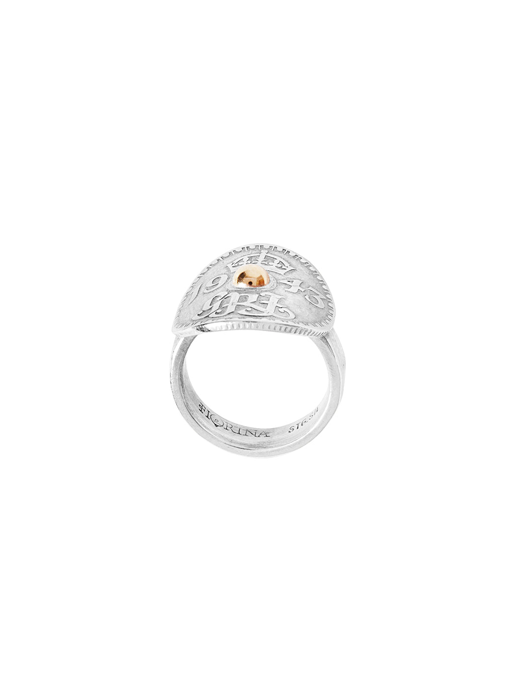 Fiorina Jewellery Joy Bent Pinkie Ring Side View