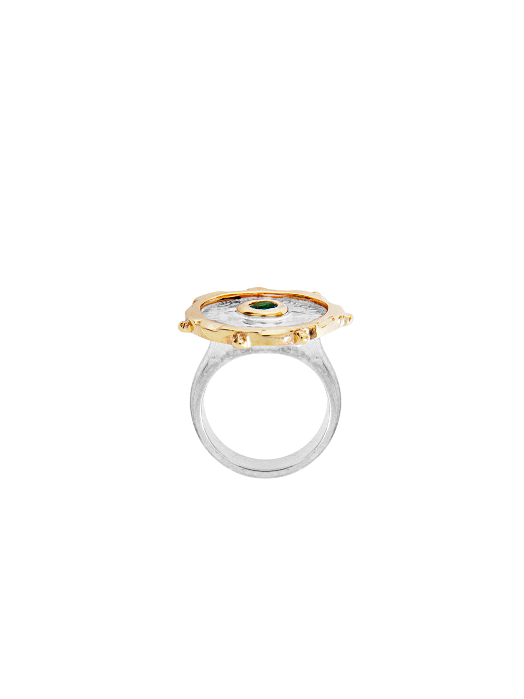Fiorina Jewellery Joy Gem Pinkie Ring Side View