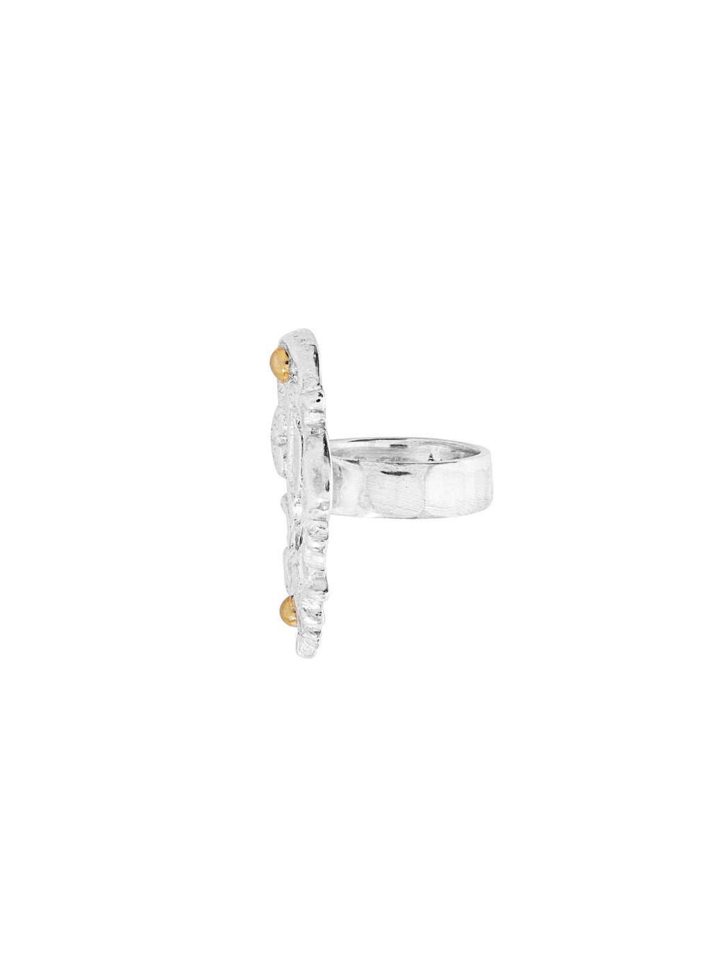 Fiorina Jewellery Keyhole Ring Side View