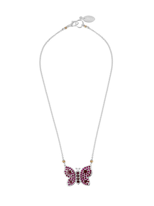 Fiorina Jewellery La Vie Butterfly Ruby Necklace