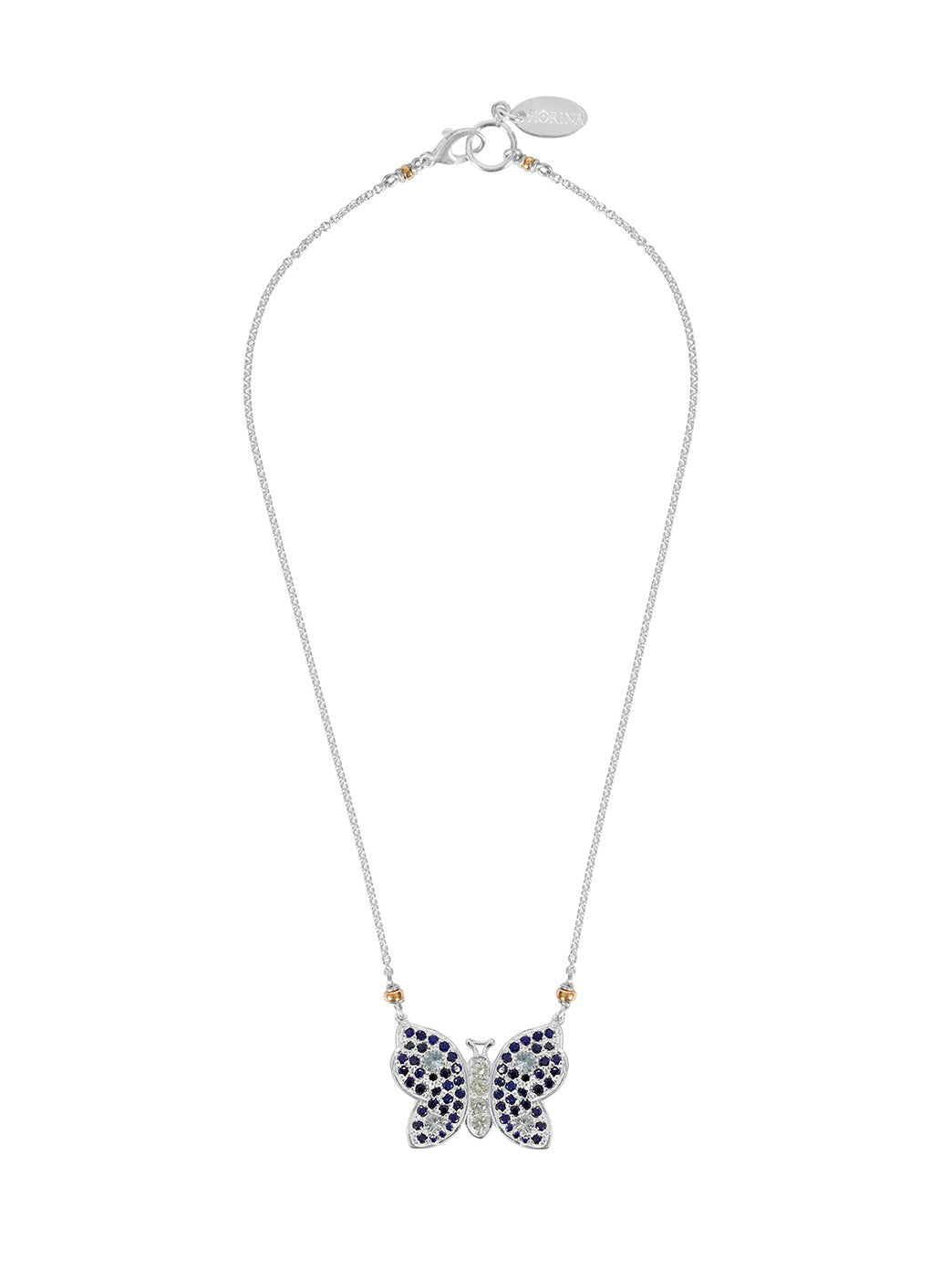 Fiorina Jewellery La Vie Butterfly Sapphire Necklace