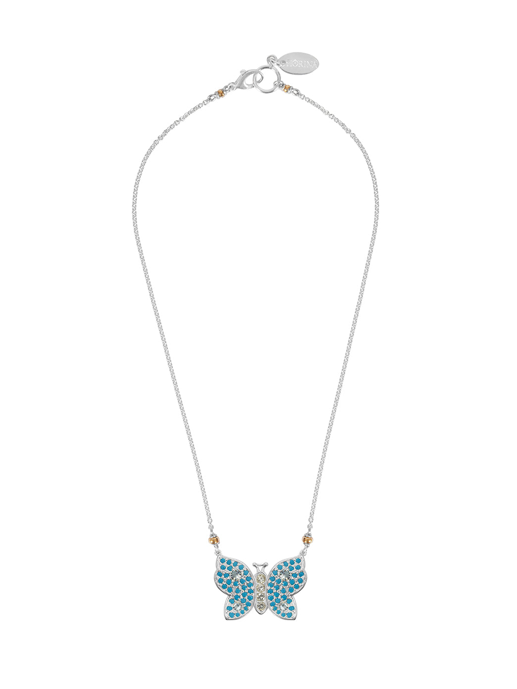 Fiorina Jewellery La Vie Butterfly Turquoise Necklace