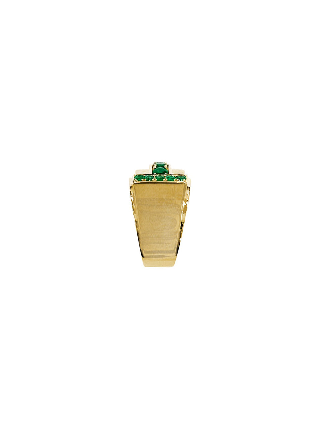 Fiorina Jewellery Martini Ring Emerald Shank View