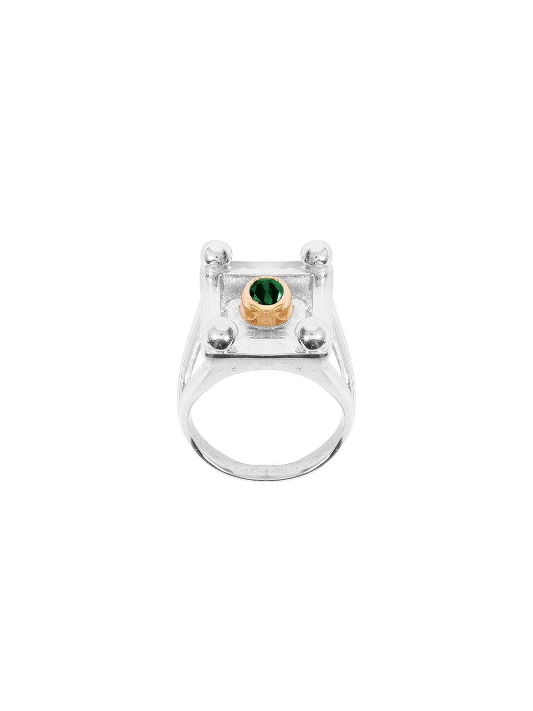 Fiorina Jewellery College Ring Emerald Top Side