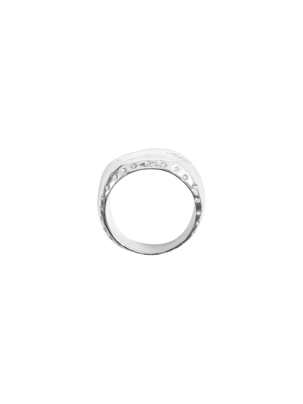 Fiorina Jewellery Men's Roman Numeral Ring Side View