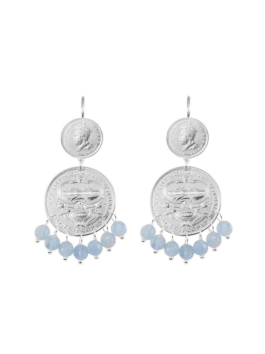 Fiorina Jewellery Mini Marrakesh Earrings Aquamarine