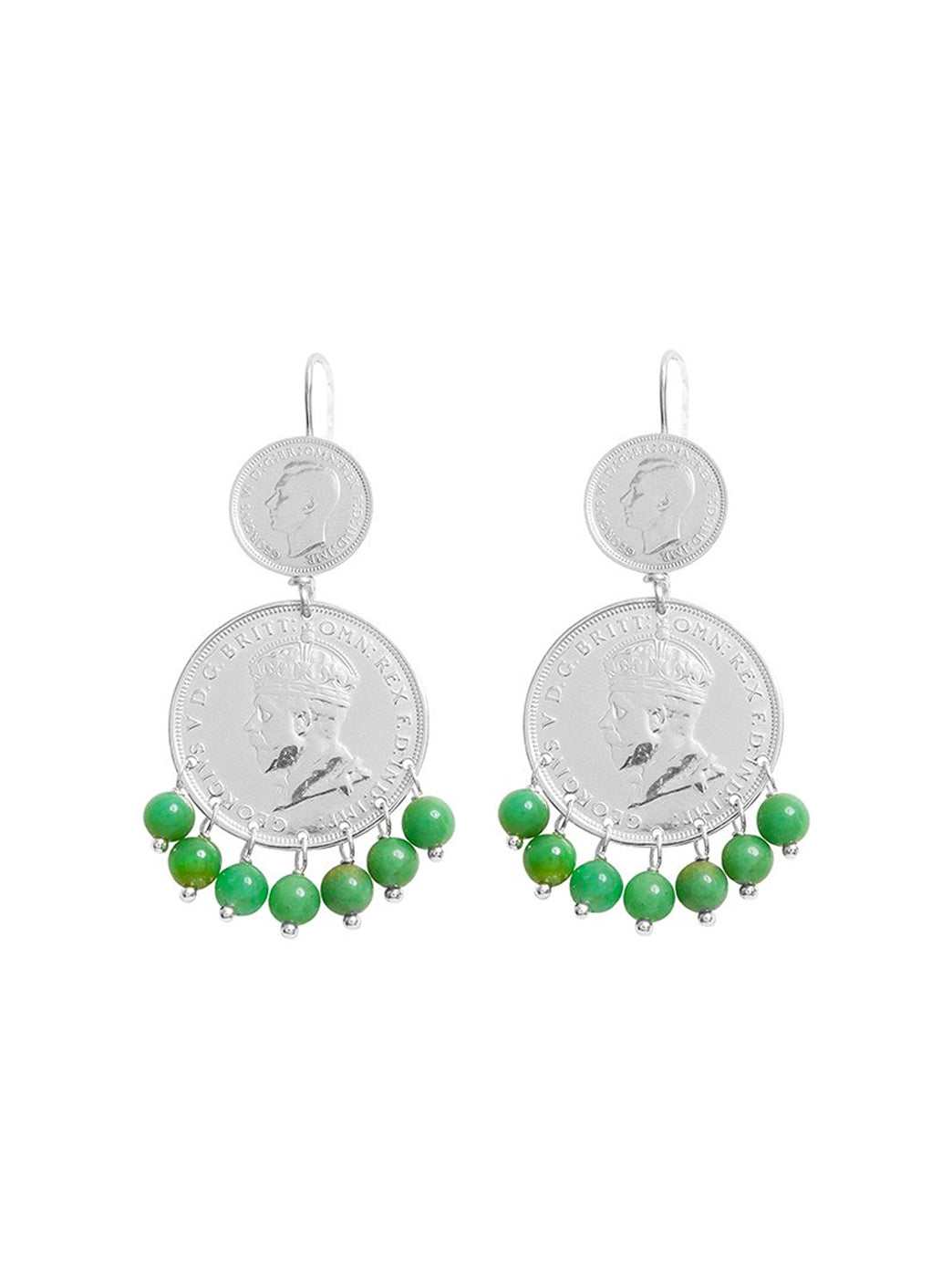 Fiorina Jewellery Mini Marrakesh Earrings Chrysoprase