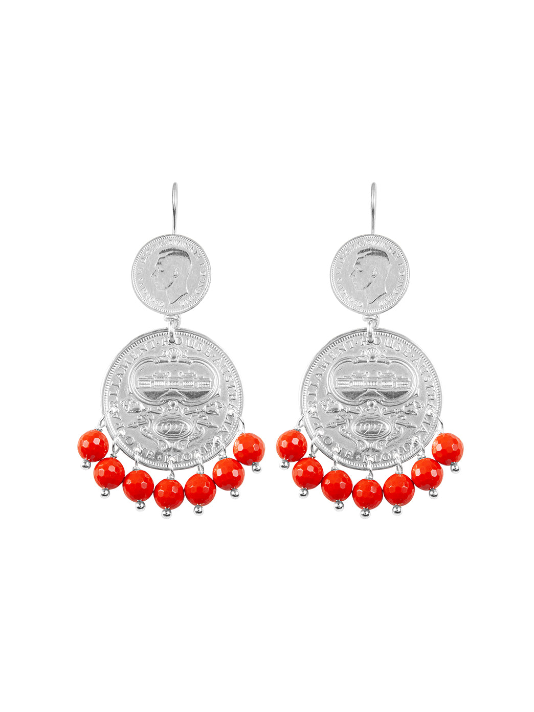 Fiorina Jewellery Mini Marrakesh Earrings Coral