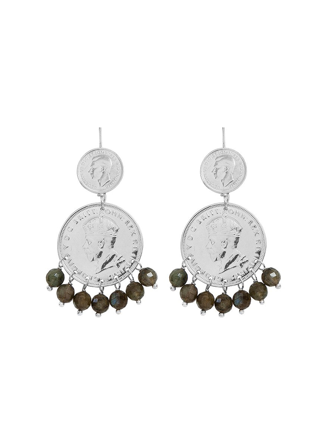 Fiorina Jewellery Mini Marrakesh Earrings Labradorite