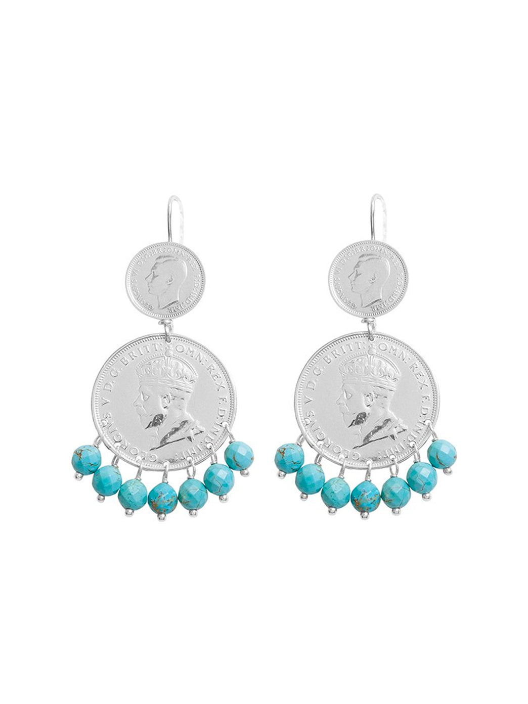 Fiorina Jewellery Mini Marrakesh Earrings Turquoise