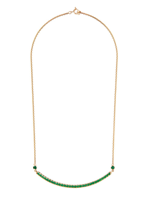 Fiorina Jewellery Monster Arc Necklace Emerald