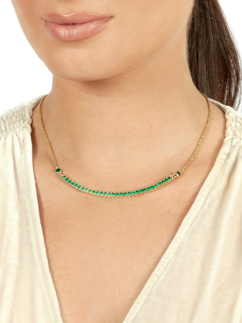Florin Jewellery Monster Arc Necklace Emerald Model