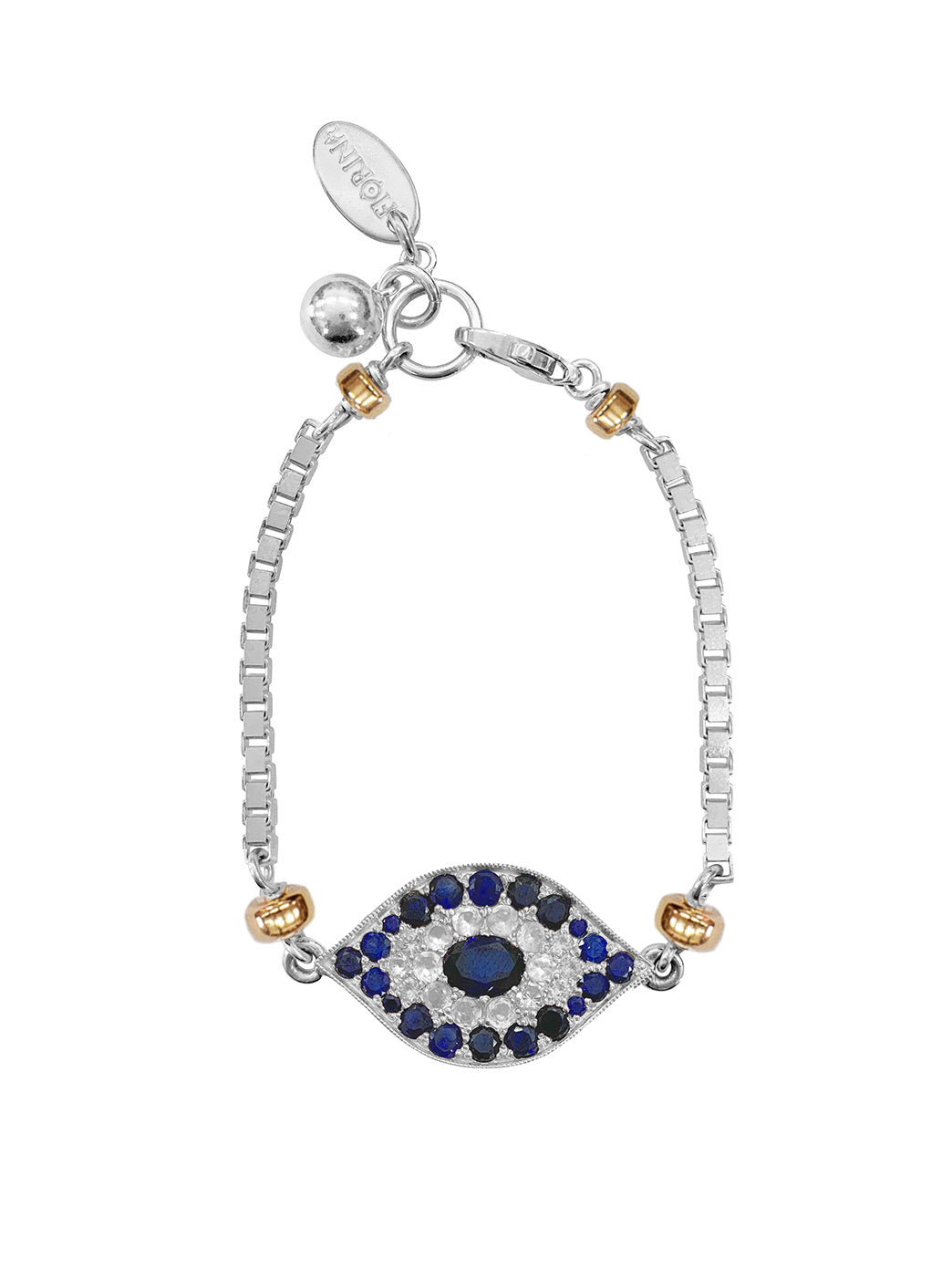 Fiorina Jewellery Oracle Eye Bracelet Blue and White Sapphire