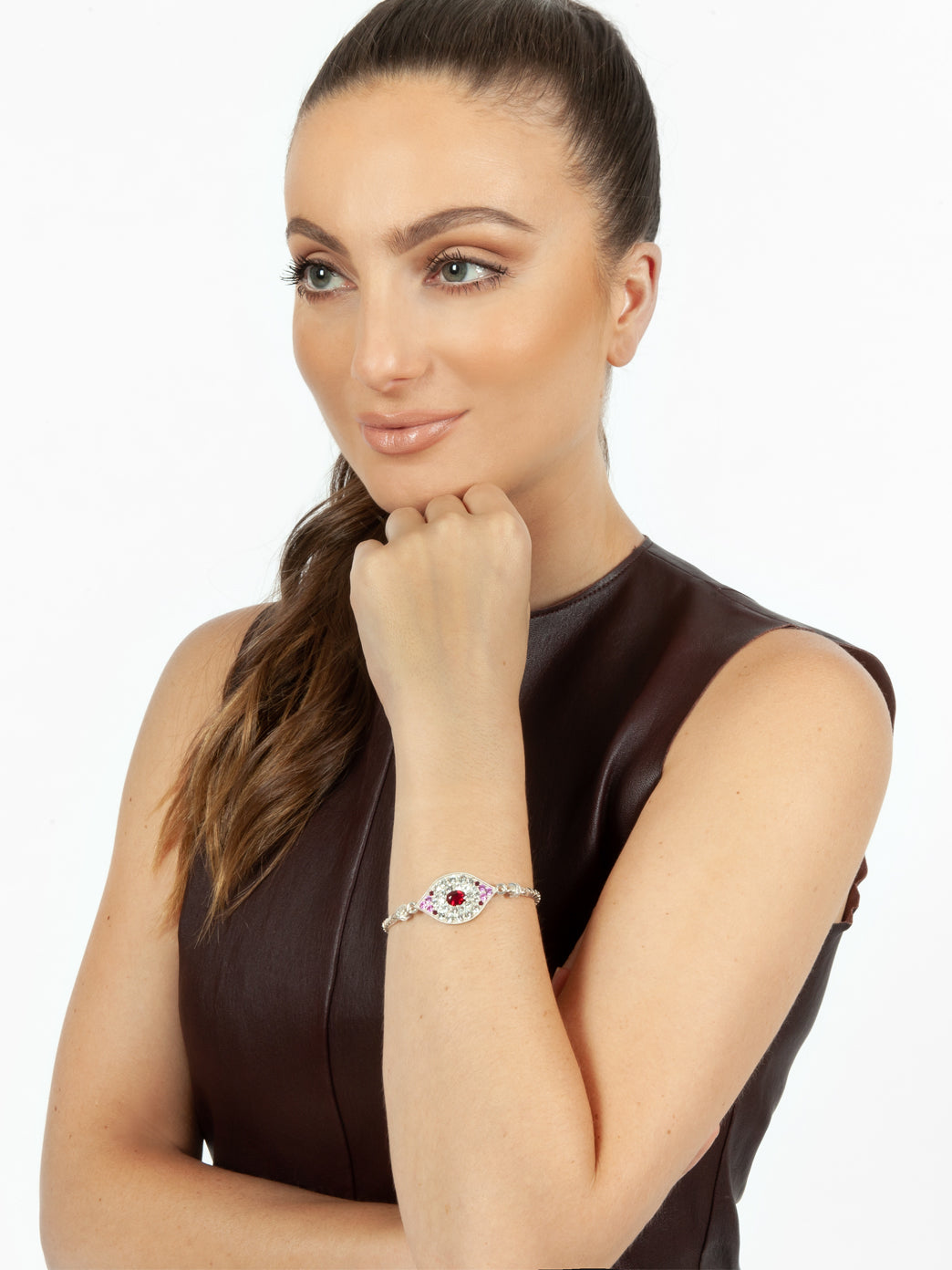 Fiorina Jewellery Oracle Eye Ruby Bracelet Model