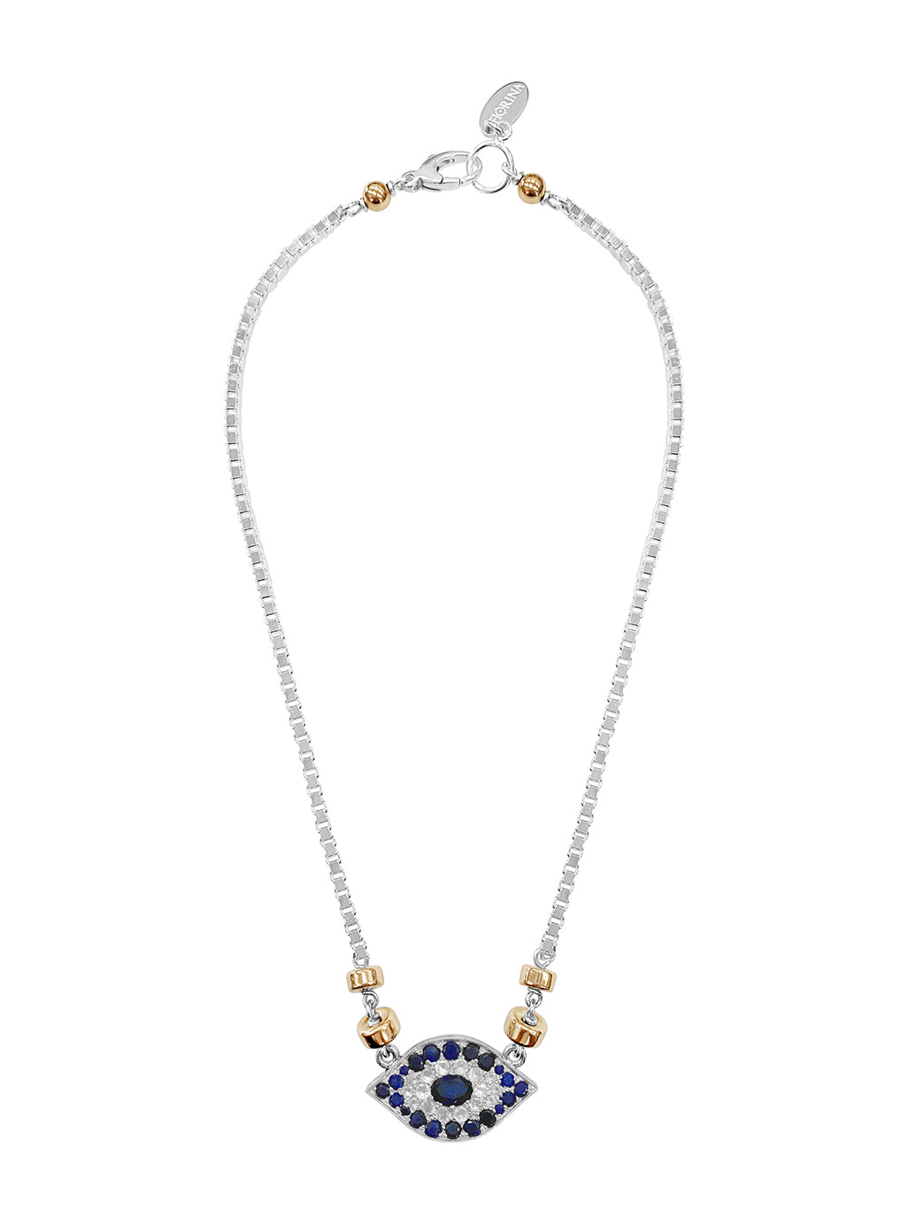 Fiorina Jewellery Oracle Eye Necklace Blue Sapphire