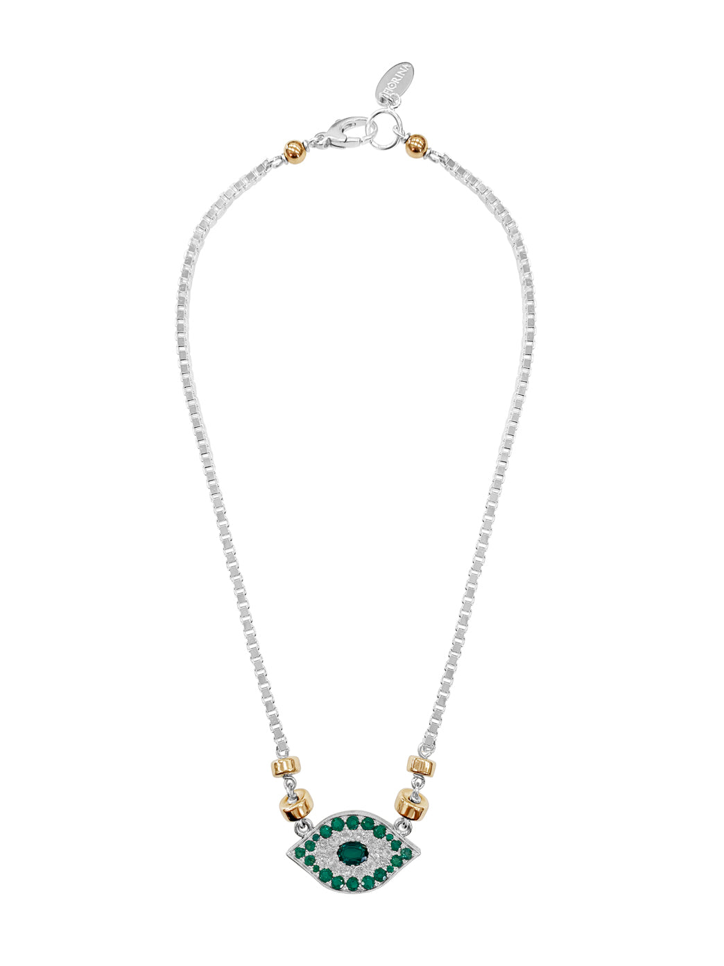 Fiorina Jewellery Oracle Necklace Emerald & White Sapphire
