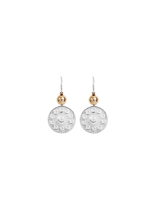 Fiorina Jewellery Logo Earrings Gold Highlights