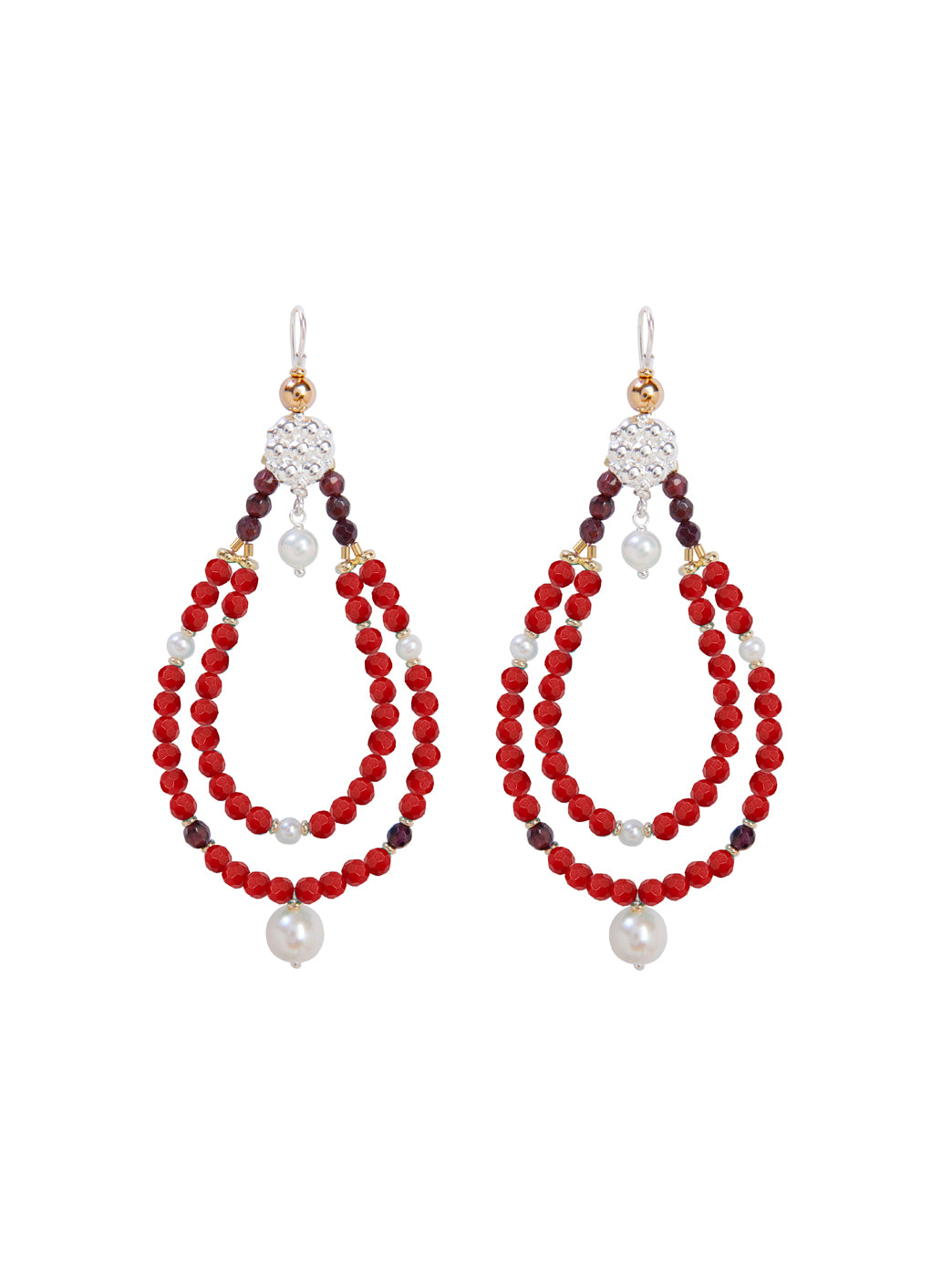 Fiorina Jewellery Rahini Earrings Red Coral