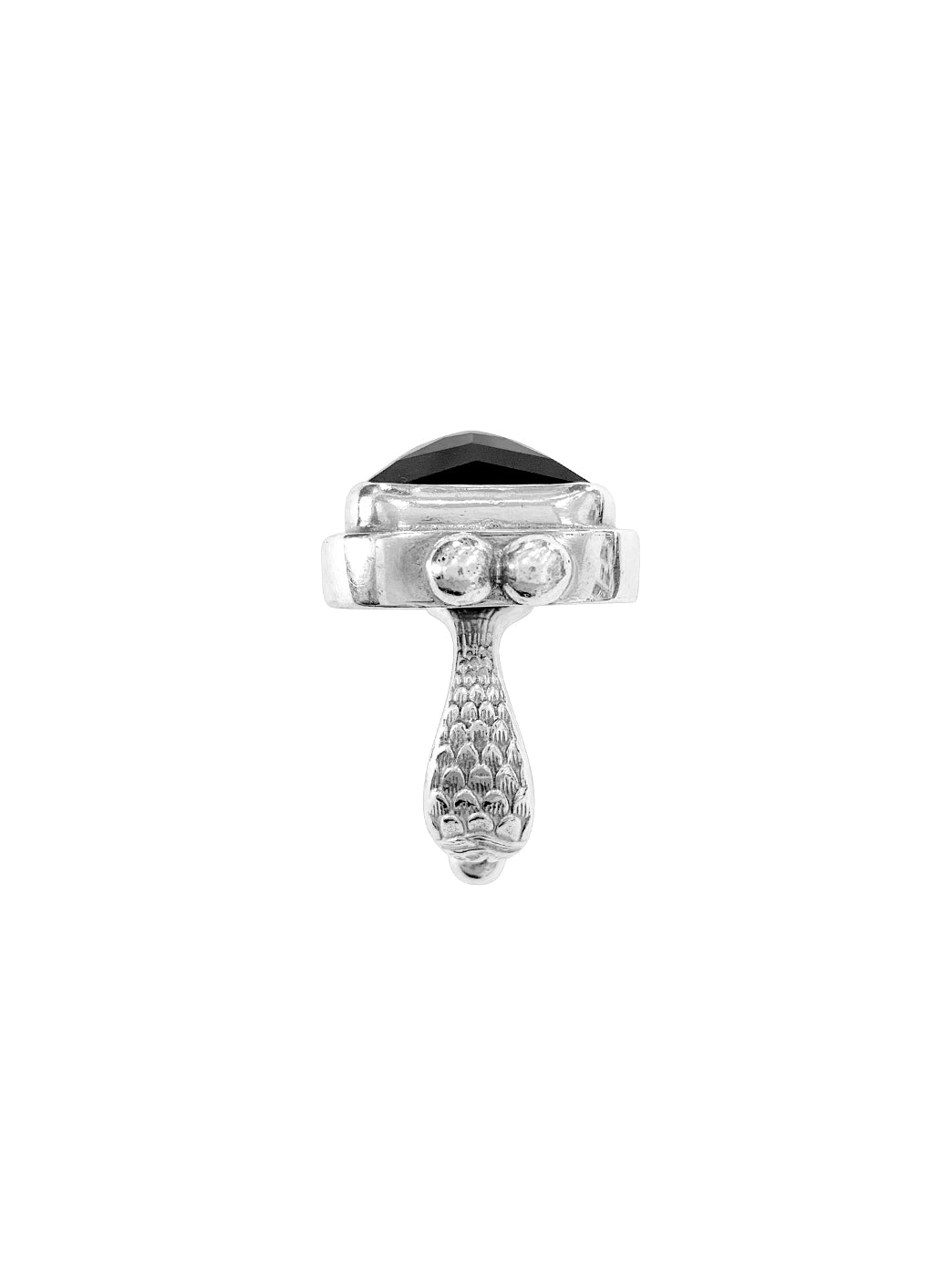 Fiorina Jewellery Rectangle Cocktail Ring Black Onyx Fishband View