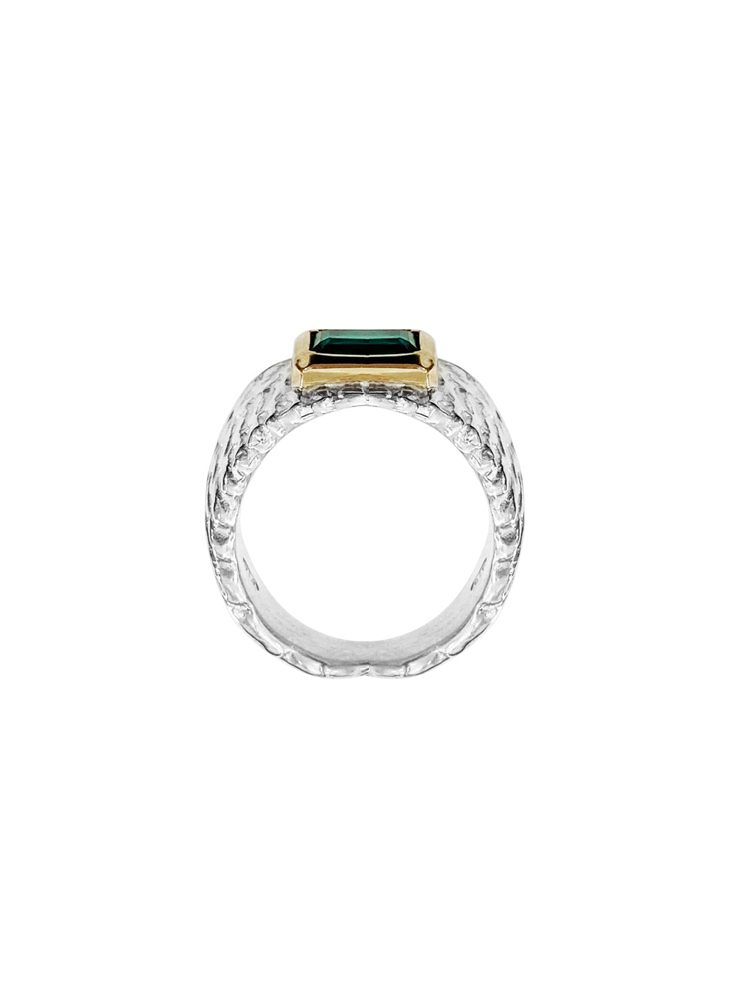 Fiorina Jewellery Reuben Ring Emerald Side View