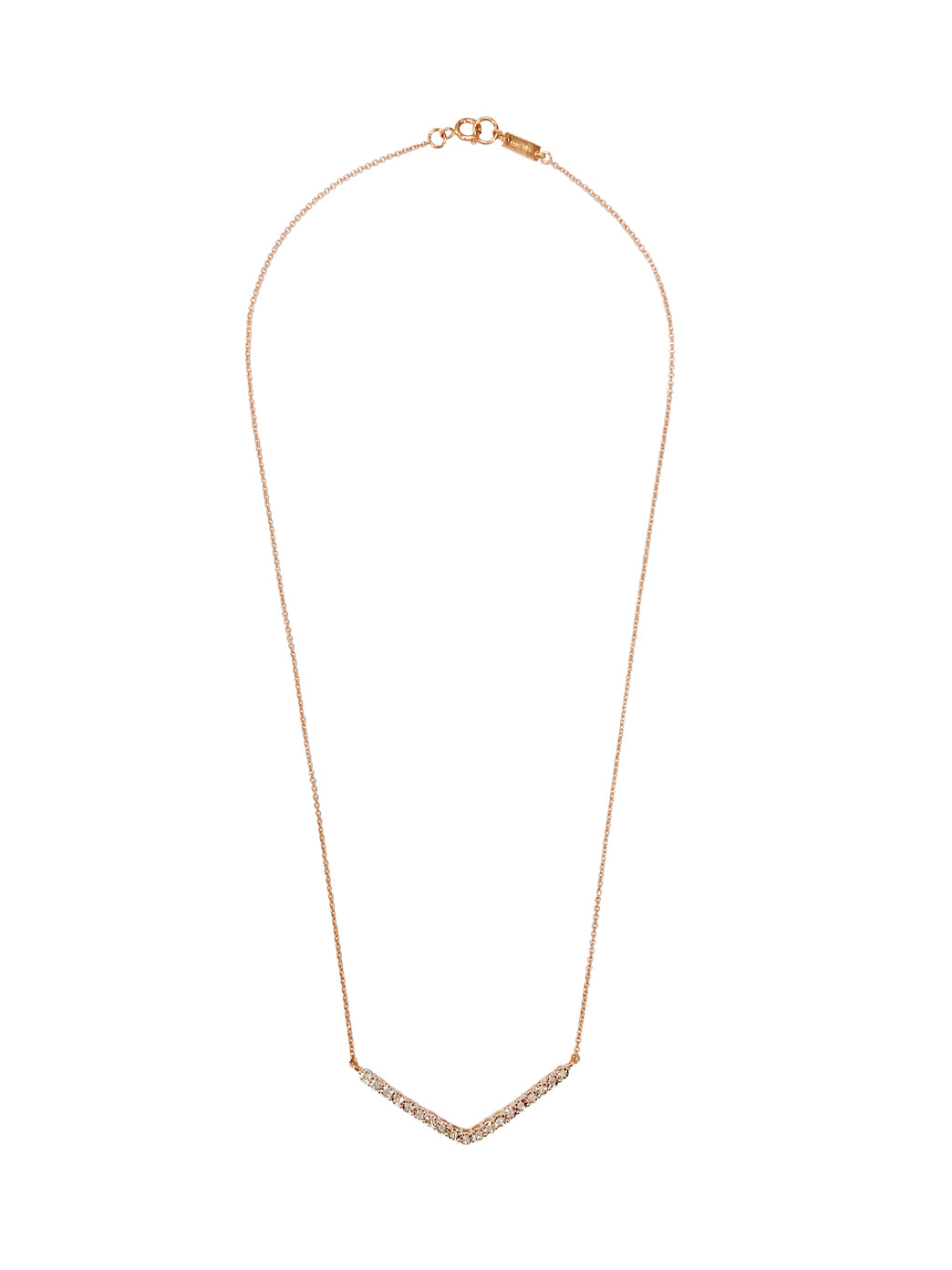 Fiorina Jewellery Rose Gold Diamond V Necklace